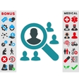 Explore Patients Icon vector image vector image