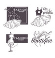fashion boutique isolated icons female clothes vector image vector image