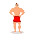 Fitness concept with sport bodybuilder man vector image vector image