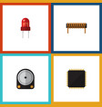 flat icon appliance set of hdd recipient cpu and vector image vector image
