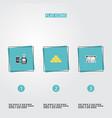 flat icons remote paying ingot teller machine vector image vector image