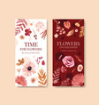 flyer template with autumn flower concept design vector image vector image