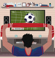 football fan rejoices at the goal vector image vector image