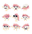 funny sushi - isolated cartoon emoticons vector image