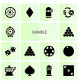 gamble icons vector image vector image