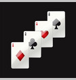 game cards - modern realistic isolated clip vector image vector image