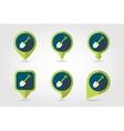 Gardening shovel flat pin map icon vector image vector image