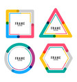 geometric colors lines frame design vector image vector image