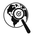 global market search icon simple style vector image vector image