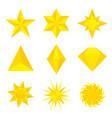 gold stars vector image
