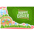 Greeting card for easter holiday