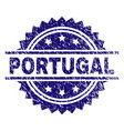 grunge textured portugal stamp seal vector image vector image