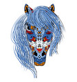 hand drawn head horse multicolored zentangle vector image vector image