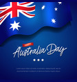 happy australia day celebration poster or banner b vector image
