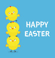 happy easter chicken pyramid family set farm vector image vector image