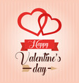 happy valentines day heart love poster decoration vector image