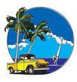 hawaiian badge vector image vector image