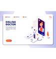 healthcare online pharmacy isometric concept vector image