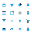 interface colorful icons set collection of socket vector image vector image