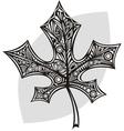 Leaf pattern black vector image vector image