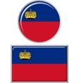Liechtenstein round and square icon flag