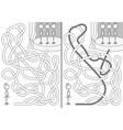 little balllerinas maze vector image vector image