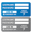 log in form with username and password fields vector image