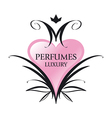 Logo pink heart for perfumes vector image