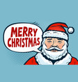 merry christmas banner happy santa claus pop vector image