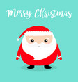 merry christmas santa claus face head body round vector image