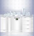 mock up kitchen built-in dishwasher vector image vector image