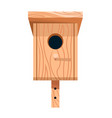 nesting box or birdhouse isolated icon wooden vector image