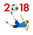 new year 2018 concept - vector image vector image