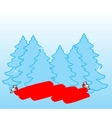 new year postcard xmas card vector image vector image