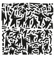 people abstract vector image vector image
