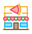 pizza restaurant icon outline vector image vector image