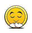 pray coin cartoon character collection vector image vector image