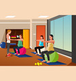 pregnant women with exercise balls vector image