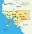 republic guinea-bissau - map vector image vector image