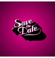 Save the Date retro label vector image vector image