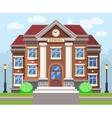 School or university building flat vector image vector image