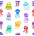 seamless pattern motley gradient jellyfish vector image vector image
