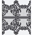 Seamless wide lace ribbon with openwork flowers vector image vector image