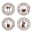 set of grunge beverage stamps vector image