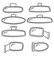 set of rear view mirrors vector image vector image