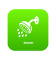 shower icon green vector image vector image