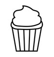 sweet cupcake dessert tasty icon thick line vector image