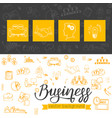 template business icons in doodle style vector image