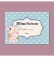Vintage business card for children wear designer vector image vector image