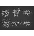Vintage Happy Mothers Day Typographical Labels Set vector image vector image